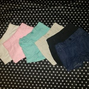Bundle Of 6 Pairs Girls Toddler Shorts